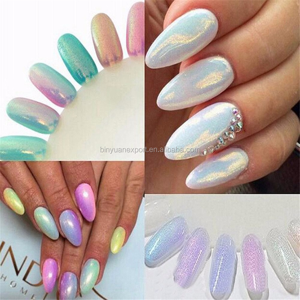 Bin Nail Art Holographic Powder Nail Holo Pigment - Buy Holographic ...