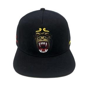 0d264a1203d Men Hip Hop Black Custom Logo 3d Embroidery Blank Plain Customize Cap  Snapback Hats