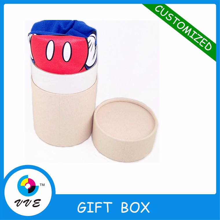 tube packaging cardboard cylinder box for T shirt packaging