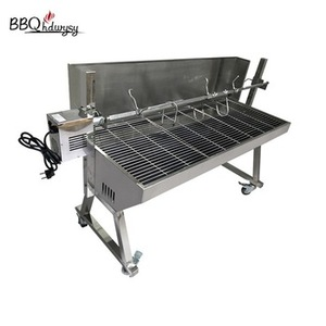 commercial charcoal electric bbq grill roaster with motor
