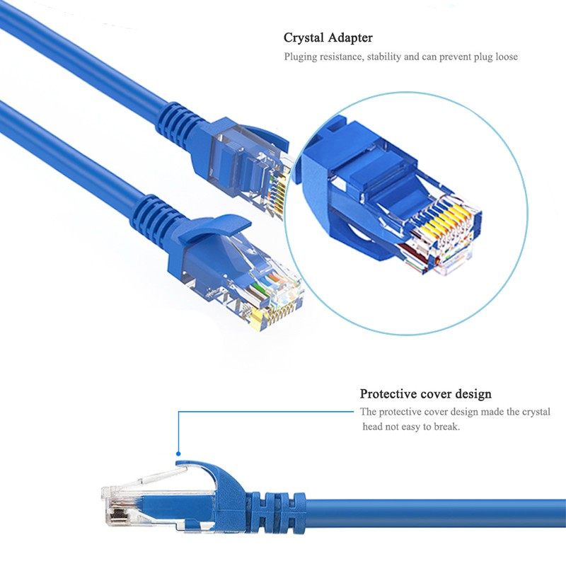 Glory custom color rj45 patch cord flexible cat6 utp cable