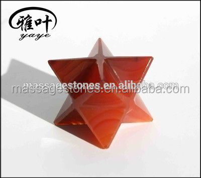 Carnelian Merkaba Star Sacred Geometry 8 pointed Star