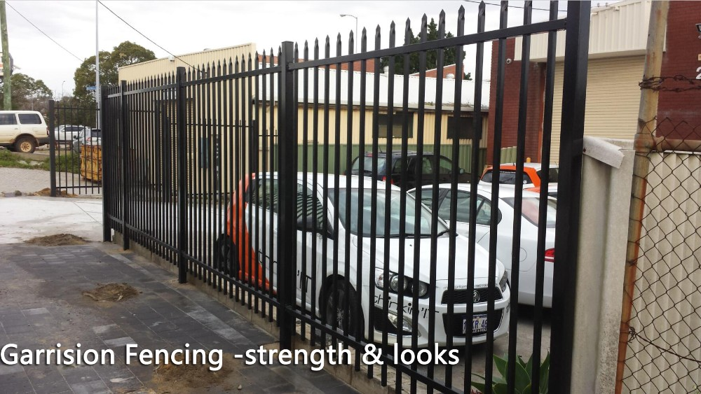 Residential ornamental wrought iron fence models design
