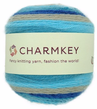 Charmkey new style fancy cake yarn smart wool knitting cake yarn for childrenswear and eye-catching accessories