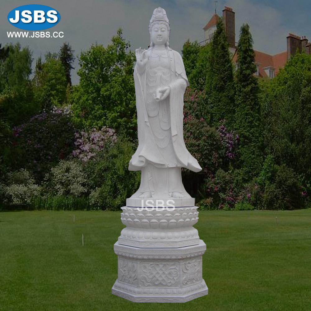 Stone Carved Large Standing Female Buddha Statues