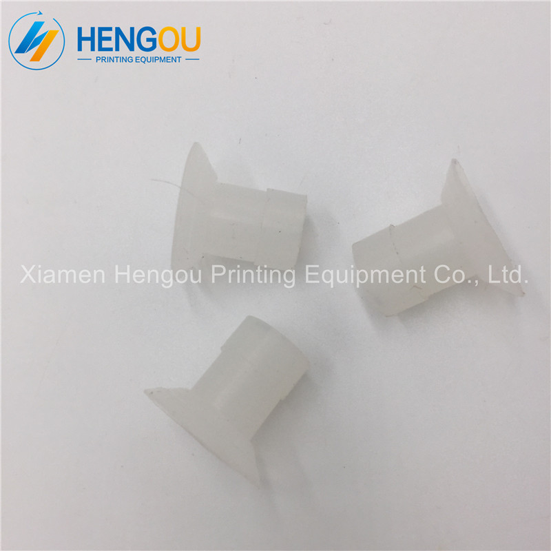 New xmhengou offset printing rubber suckers wite color round shape size 20x22x6mm Ryobi rubber sucker