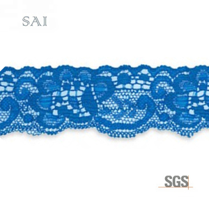 Custom color good stretch elastic lace trim for lingerie