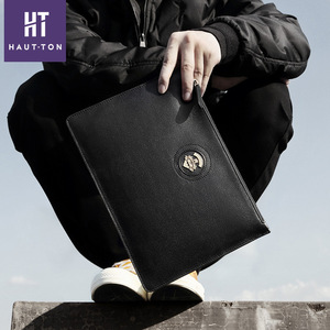 2020bb6b43 Real leather handbag new style envelope clutch bag for men