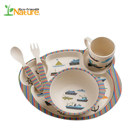 New Products Chinese Supplier Tableware Bamboo Fiber Sets for USA Market