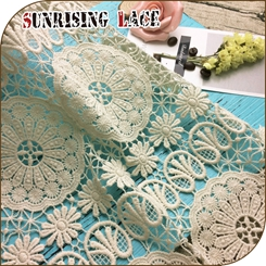 Wholesale Floral Embroidered Eyelet Cotton Lace Fabric