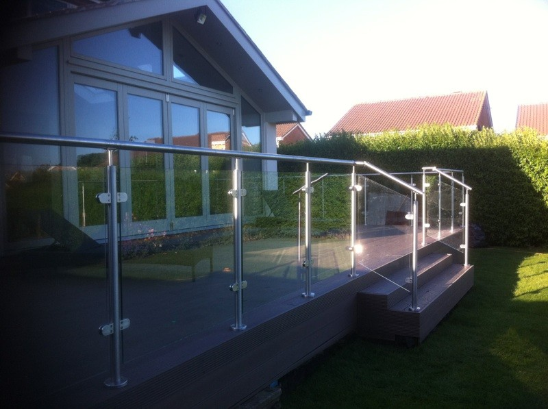 Cheap Modern Design Used Wrought Iron Glass Railings For Sale ...