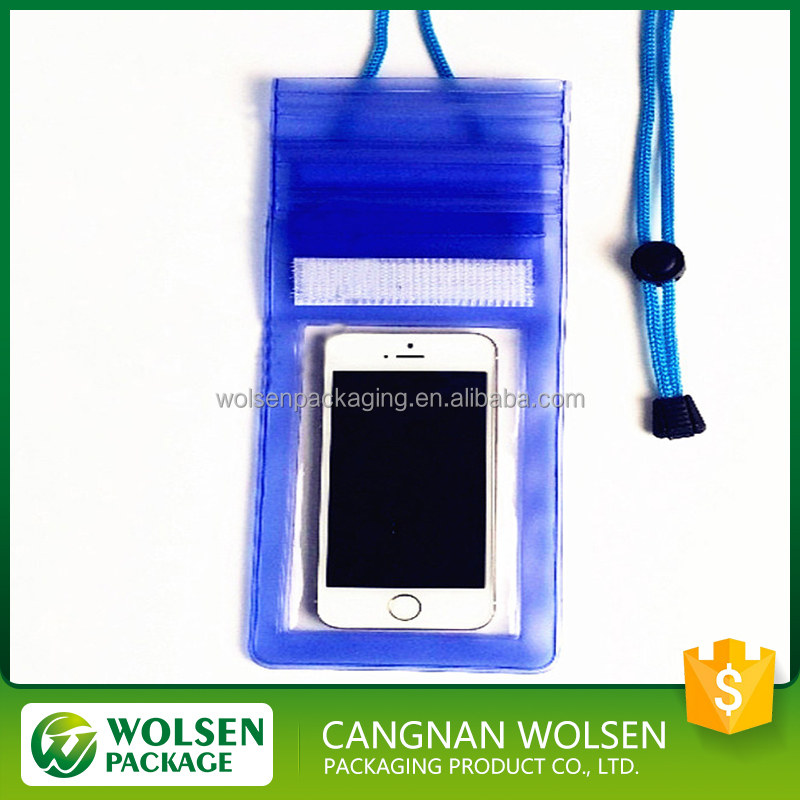 Factory selling customized plastic PVC mobile phone waterproof bag