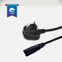 UK BS standard power cords with molded plug