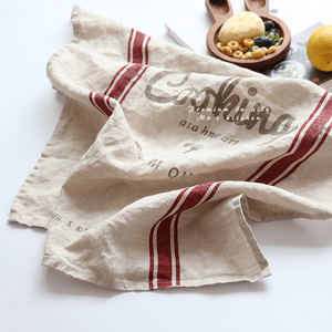 High quality custom desgin printing soft hand feeling kitchen linen tea towel