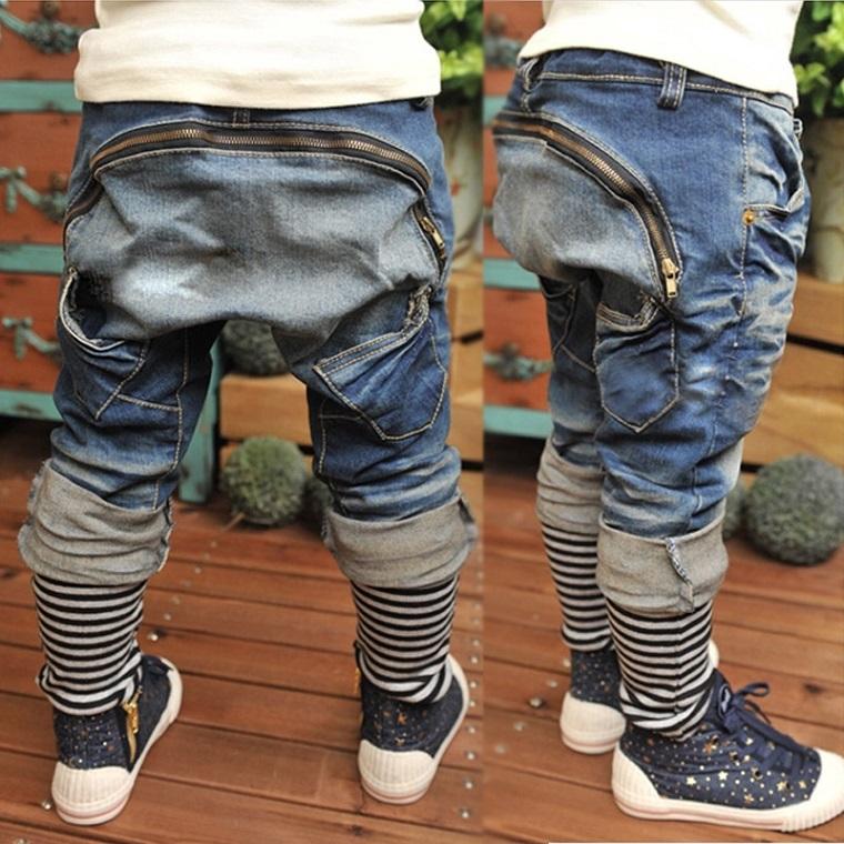 12a7c510a Retail 2016 Retail Kids Jeans Boys Trousers Spring New Design Children  Harem Pants Boys Pant Fashion Kids Wears