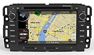 2009-2014 GMC Savana 1500 2500 3500 2007-2013 GMC Sierra 1500 2007-2012 GMC Acadia 2007-2014 GMC Sierra 2500HD 3500HD Yukon/Yukon XL 1500 2500 2008-2009 Hummer H2 2008-2012 Buick Enclave 2009-2012 Chevy Traverse In-Dash GPS Navigation DVD Player Bluetooth A2DP Audio Streaming 7 Inch Touchscreen FM