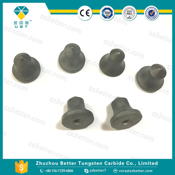 Tungsten carbide road buttons