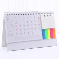 Chinese OEM desk pad daily desktop wall calendar , calendar with sticky notes