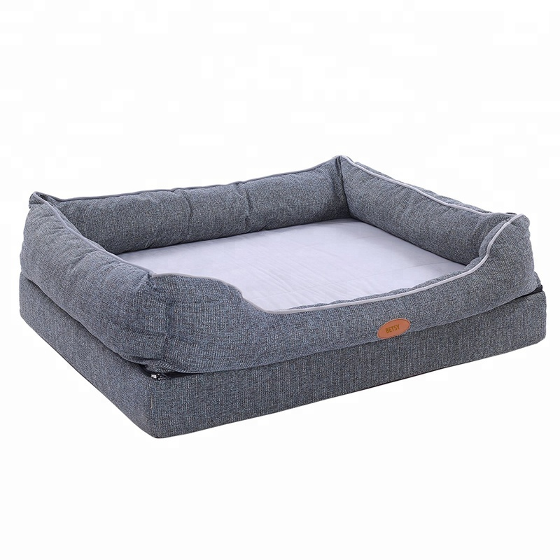 Hond bed luxe wasbare huisdier waterdichte memory foam cover meubels grote inserts