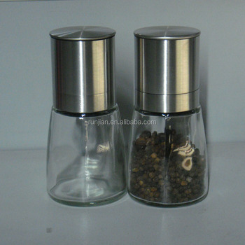 Colorful High Quality Manual Salt Pepper Mill Glass
