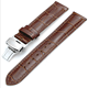 Factory Wholesale Genuine Leather Water Proof Watch Straps with Butterfly Buckles