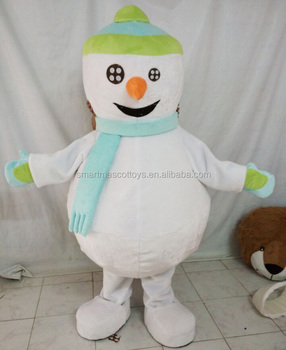 ow price soft plush cosplay adult white snowman mascot costume