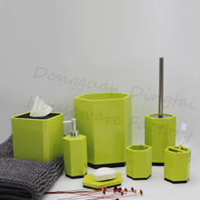 Natural fashion jade green design bathroom accessories sets