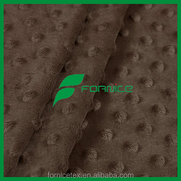 China manufacturer polyester Minky cuddle fabric dimple dot