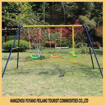 Kids Outdoor Steel Swing Set Galvanized Playground For Children