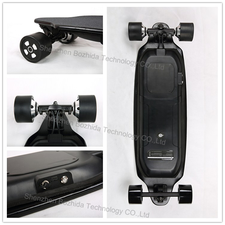 factory cheap price 600W *2 wheel fastest black panther maple board electric skateboard