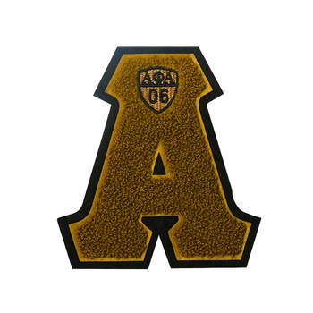 wholesale varsity letterman towelling patches embroidered letters chenille patches greek letter patches for clothing