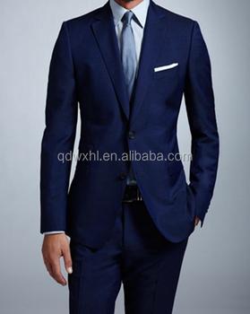 Blue Colour Men Suits Top Brand Coat Pant Men Suit Design
