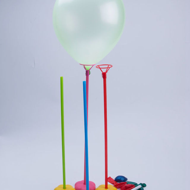 birthday party balloon holder stick table floating balloon stick holder