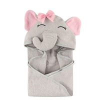 U-HomeTalk UT-BJ002 Custom Personalized Animal Embroidered Soft Bamboo Baby Kid's Hooded Wrap Bath Towel and Washcloth Set
