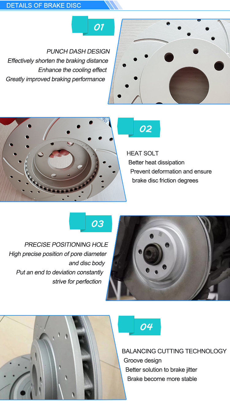 Customized Auto Spare Parts Brake Disc For TOYOTA