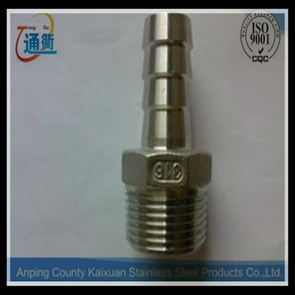 304 or 316 stainless steel npt female bsp male adapter with manufacture