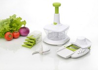 Super food processor kitchen salad slicer set vegetable cutter and fruit processor mixer plastic vegetable machine