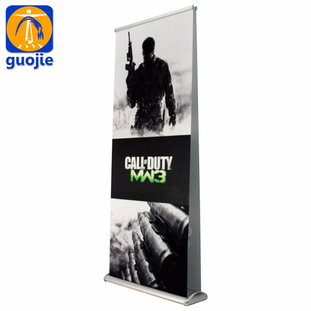 adjustable flex aluminium material pole and display usage roll up banner stand