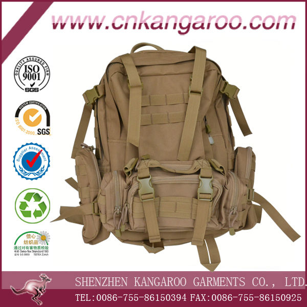 High quality molle 45L custom 600D nylon military backpack