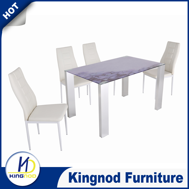 2016 China Best Selling Glass Dining Table 6 Chairs Set