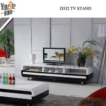 Flat Pack Tv Stand Black High Gloss Corner Installing Led Tv