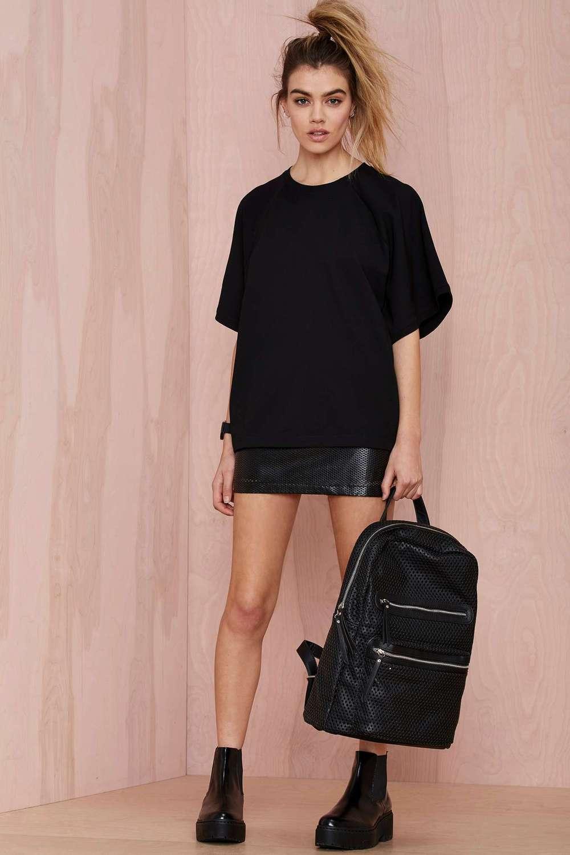Design your own t-shirt label - Black Oversized Design Your Own T Shirt For Women
