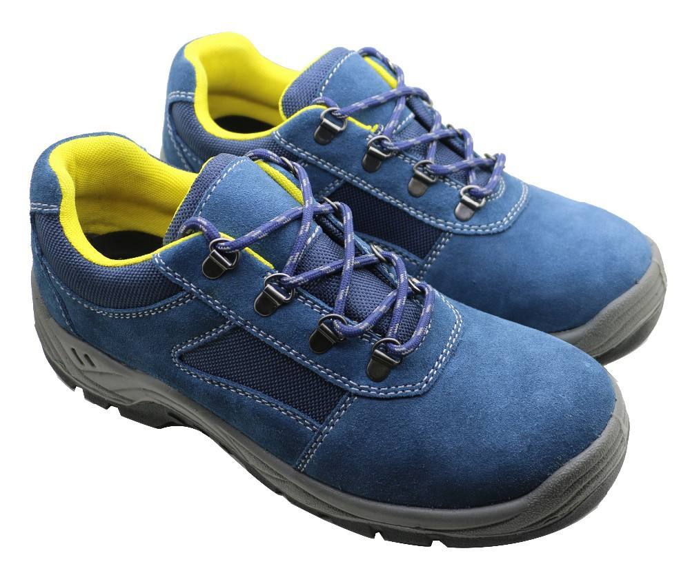 Dark Blue Comfortable Men Work Boot Safety Shoes/woodland Safety ...