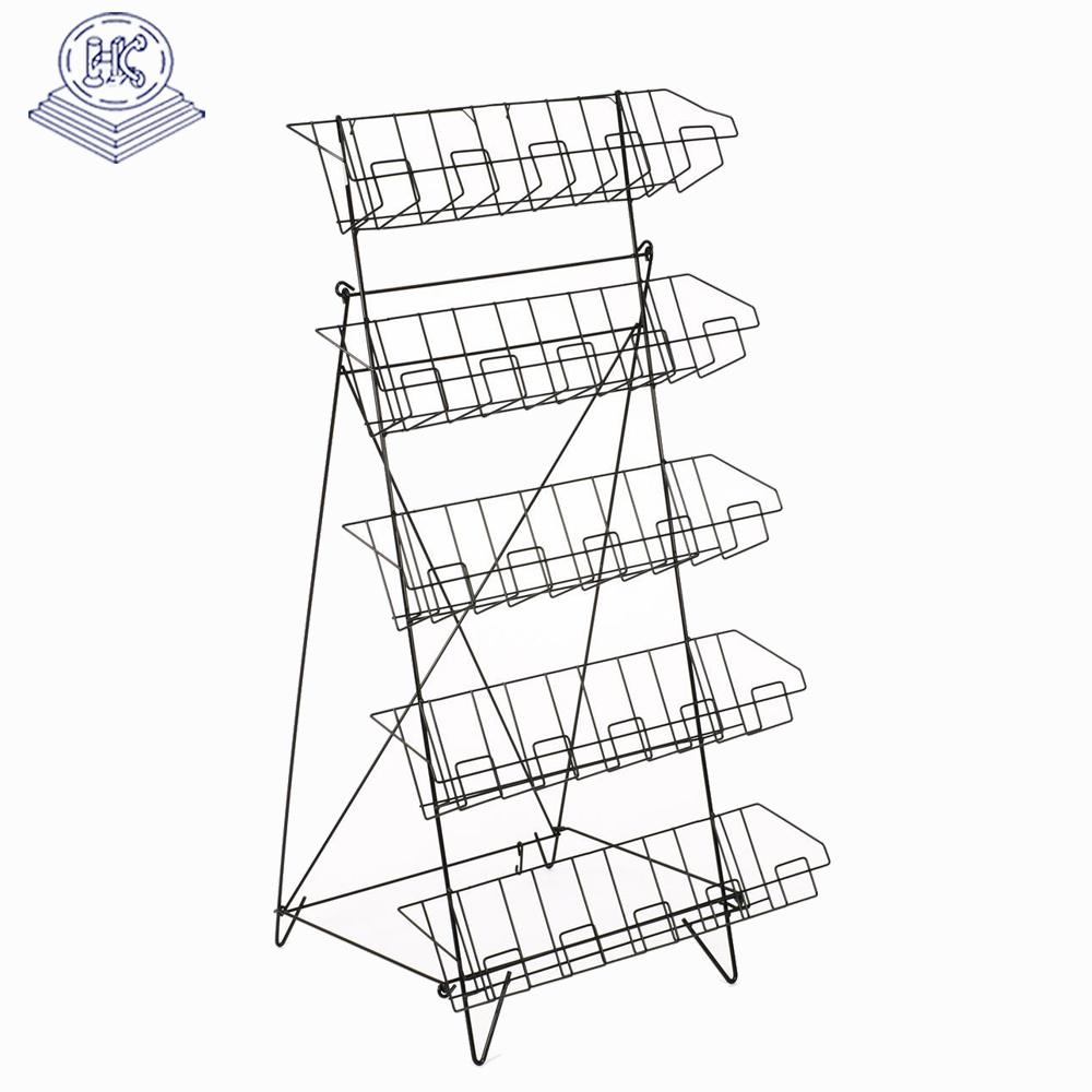 free stand durable floor display candy rack