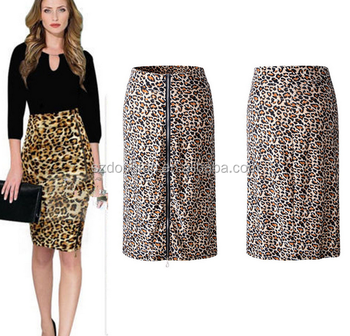 Women Fashion Knee-length Office Skirts Designs Summer Lady Skirt ...