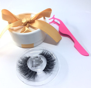 Private label Circle Case 3D Cheap Siberian Own Brand False Mink 3D Eye Lashes