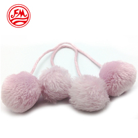 Fluffy Dyed Fur Ball Pom Pom Fur Ball with String For Clothing Accessories Shoes Hats Scarf US 1 for Customized Sample