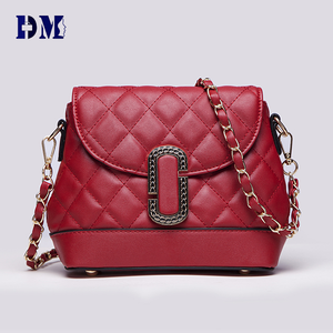 New Stylish Top Quality Ladies Elegant Chain Design Shoulder Handbag with leather