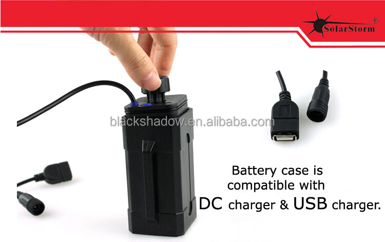 Solarstorm BC-2 4*18650 3.7V / 8.4V waterproof rechargeable li-ion battery case portable USB charging power bank