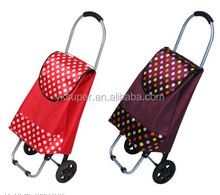 2015 Foldable vegetable shopping trolley bag
